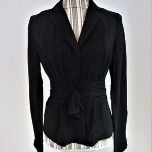 BCBGMAXAZRIA Black Fitted  Peplum Jacket